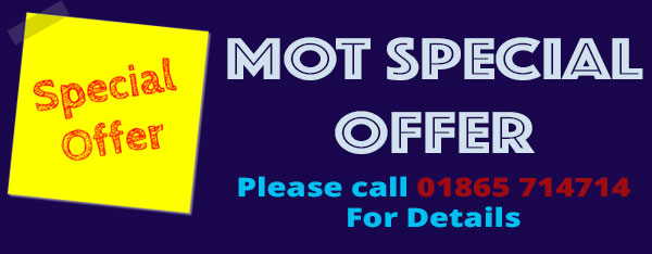 MOT Special Offer, please call for details